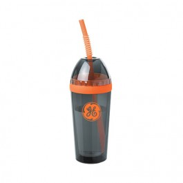Smoke / Orange 14 oz. Double Wall Dome Tumbler