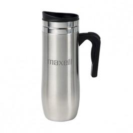 Stainless / Black 16 oz Engraved Motif Travel Mug