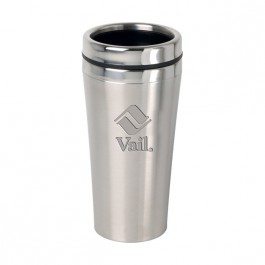 Stainless / Black 16 oz Engraved Accent Lid Tumbler