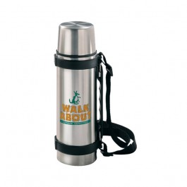Stainless / Black 24 oz Stainless Steel Travel Thermos