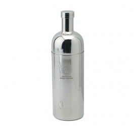 Steel Laser Etched Bottle Shaped Martini Shaker