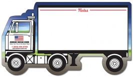White 8.375 x 4.75 Laminated Mini Memo Board Semi-Truck Shape