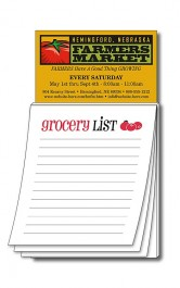 White Magna-Pad Business Card Stock Grocery List