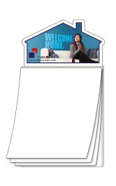White Magna-Pad House Shape BLANK Sheet