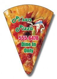 White 1.875 x 2.625 Pizza Slice Shape Magnet