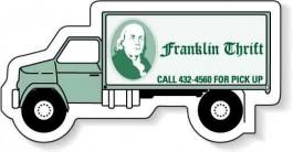 White 3.125 x 1.4375 Truck Shape Magnet