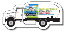 White 3.125 x 1.45 Gas Truck Shape Magnet
