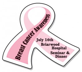 White 2.6875 x 2.25 Awareness Ribbon Magnet