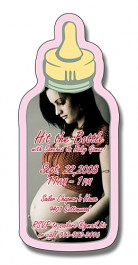 White 1.625 x 3.75 Baby Bottle Shape Magnet
