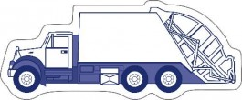 White 4.25 x 1.75 Trash Truck Shape Magnet