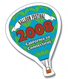 White 2.375 x 3.5 Hot Air Balloon Shape Outdoor Magnet