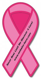 White 2 x 4.125 Awareness Ribbon Outdoor Magnet