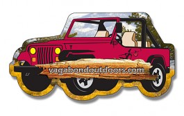 White 4.25 x 2.25 Jeep Shape Outdoor Magnet