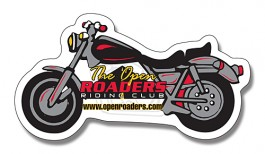 White 4.25 x 2.25 Motorcycle Shape Outdoor Magnet