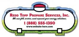 White 5 x 2.25 Propane Tank Shape Outdoor Magnet