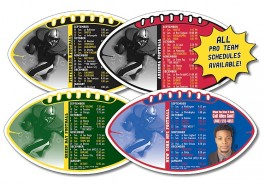 White 7 x 4 Football Shape Sport Schedule Magnet