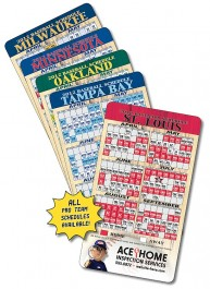 White 4 x 7 Round Corner Baseball Sport Schedule Magnet - NEXT DAY RUSH