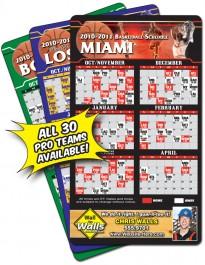 White 4 x 7 Round Corner Basketball Sport Schedule Magnet