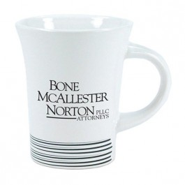 White / Black 9 oz Brushton Accent Line Ceramic Coffee Mug