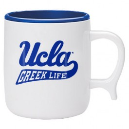 White / Blue 10 oz. Bio Corn Plastic Mug