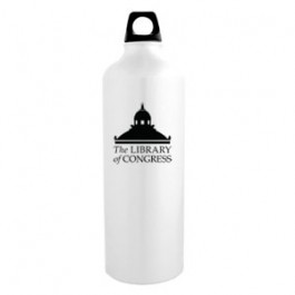 White / Black 32oz Sport Flask Aluminum Water Bottle