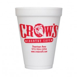 White 12 oz Foam Cup