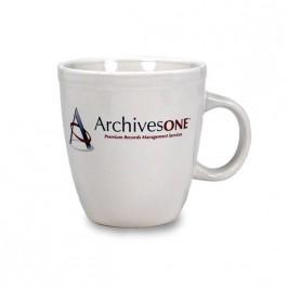 White 20 oz Mocha Ceramic Coffee Mug