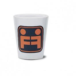 White 1 1/2 oz Ceramic Shot Glass