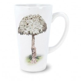 White 16 oz White Sublimation Funnel Ceramic Coffee Mug