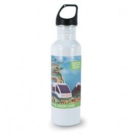 White 25.4 oz Versatile Aluminum Sublimation Tumbler Water Bottle