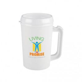 White 22 oz. Big Bogie Insulated Travel Mug