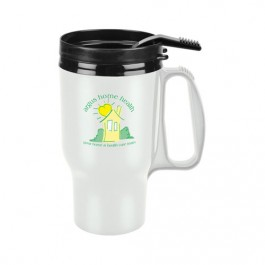 White 16 oz. Tailored Lightweight Travel Mug