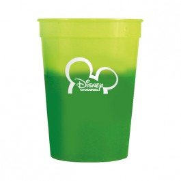 Yellow / Green 12 oz Color Changing Stadium Cup