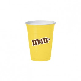 Yellow 16 oz Soft Plastic Cup