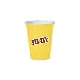 Yellow 16 oz Soft Plastic Cup