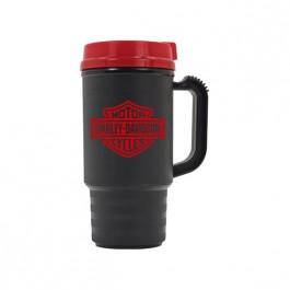 Black / Red 14 oz Thermal Travel Coffee Mug
