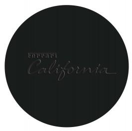 Black Debossed Round Leather Coaster