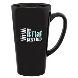 Black 13 oz. Shiny Cafe Color Coffee Mug