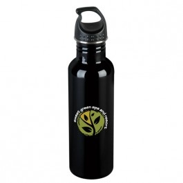 Black 25 oz. Stainless Steel Kona Water Bottle