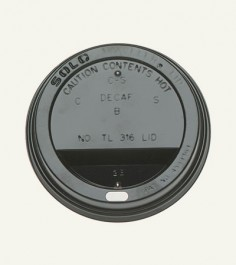 Black 4 oz Paper Cup Lid Black
