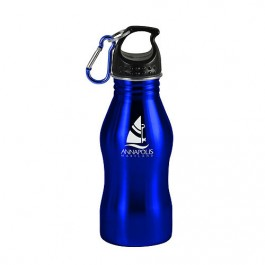 Blue / Black 17 oz Contour Stainless Steel Sports Bottle
