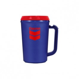 Blue / Red 22 oz Thermal Coffee Mug