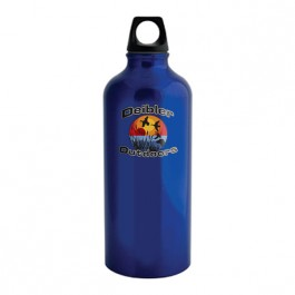 Blue 22 oz Aluminum Trek Water Bottle (Full Color)