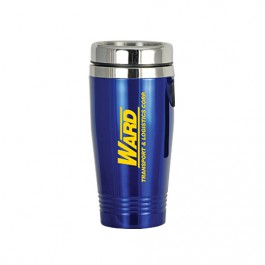 Blue 16 oz Stainless Steel Double Wall Tumbler