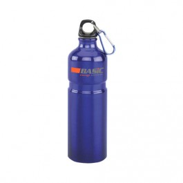 Blue 27 oz Aluminum Sports Bottle with Ridge