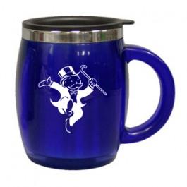 Blue 16 oz Acrylic Barrel Travel Mug