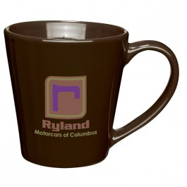 Brown 14 oz. Ceramic Contemporary Coffee Mug