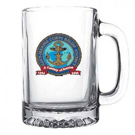 Clear 9-3/4 oz Glass Sport Mug - Full Color