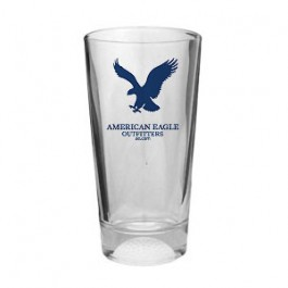 Clear 16oz Colored Golf Ball Sport Pint Glass