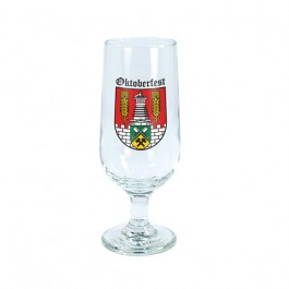 Clear 12 oz Footed Pilsner Beer Glass